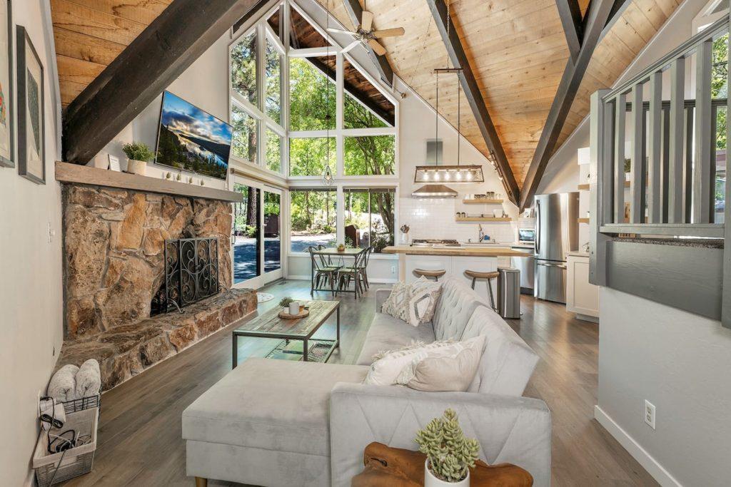 Luxury cabin interior in Incline Village Lake Tahoe