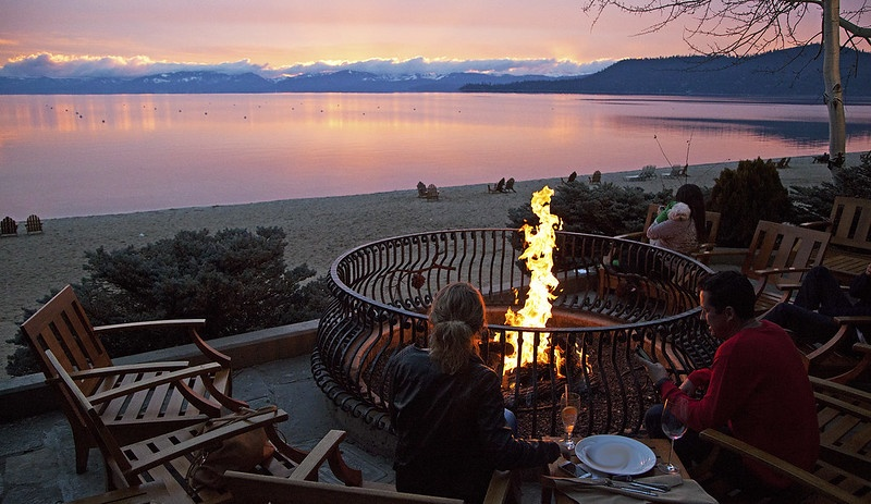 Fire pit at Lone Eagle Grille in Incline Village